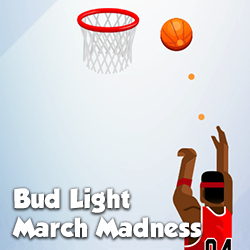 A fun sports challenge created for Bud Light during March Madness