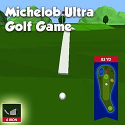 A golf game using 3D rendering and physics for Michelob Ultra