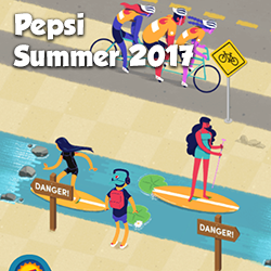 A fun, multi-level game created for Pepsi