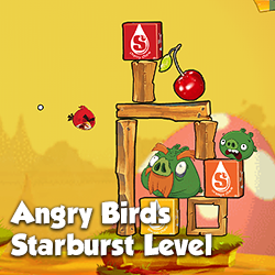 A branded Starburst level created for Angry Birds